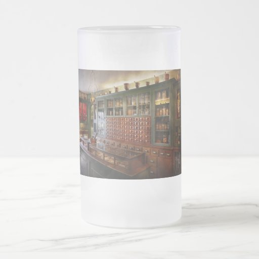 Pharmacy - I'll be out in a minute Frosted Glass Beer Mug