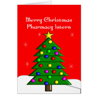 Pharmacy Intern Christmas Cards