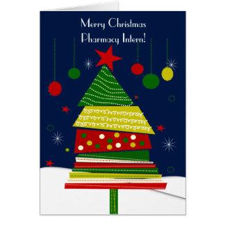 Pharmacy Intern Christmas Cards #7 Tree Design