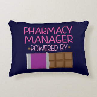 Pharmacy Manager Chocolate Gift for Her Accent Pillow