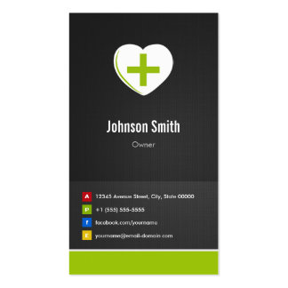 Pharmacy - Medical Care Creative Innovative Double-Sided Standard Business Cards (Pack Of 100)