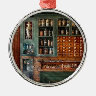 Pharmacy - Medicine - Pharmaceutical remedies Round Metal Christmas Ornament