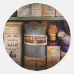 Pharmacy - Oils and Balms Classic Round Sticker