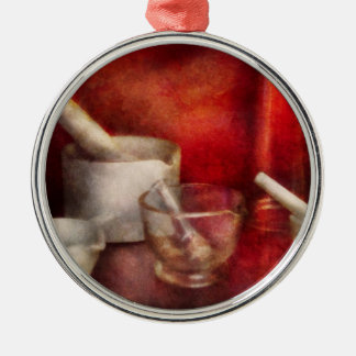 Pharmacy - Pestle - Endless variety Round Metal Christmas Ornament