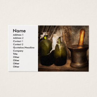 Pharmacy - Pestle - Home remedies Business Card