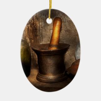 Pharmacy - Pestle - Home remedies Ceramic Ornament