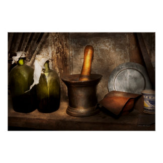 Pharmacy - Pestle - Home remedies Poster