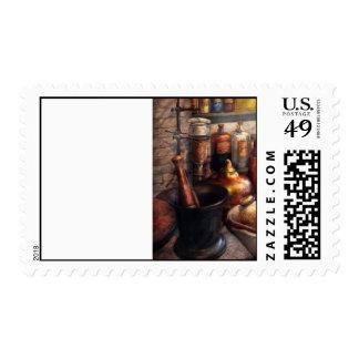 Pharmacy - Pestle - Pharmacology Stamp