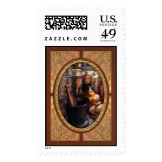 Pharmacy - Pestle - Pharmacology Postage Stamp