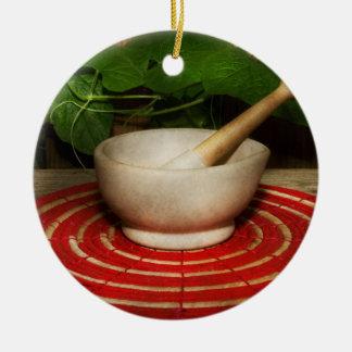 Pharmacy - Pestle - The herbalist Ceramic Ornament