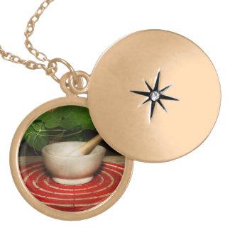 Pharmacy - Pestle - The herbalist Locket Necklace