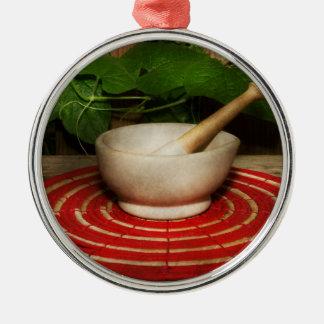 Pharmacy - Pestle - The herbalist Metal Ornament