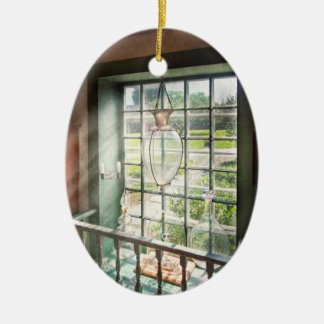 Pharmacy - Pharmaceuticals and Biologicals Double-Sided Oval Ceramic Christmas Ornament