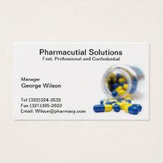Pharmacy Pharmacist Business Card at Zazzle