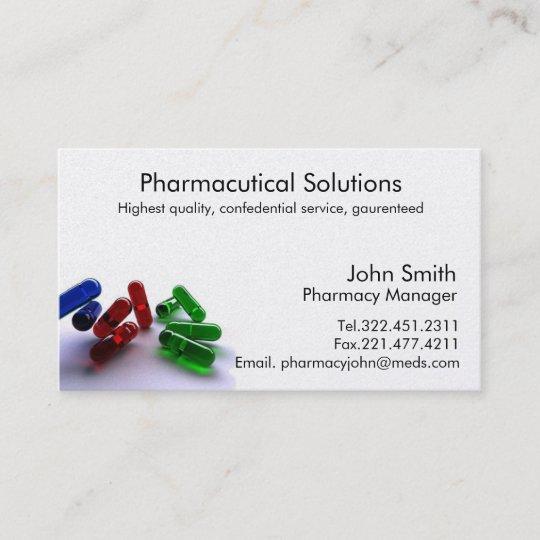 Pharmacy Pharmacist Business Card Zazzle