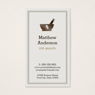 Pharmacy business cards templates zazzle for Pharmacist business card