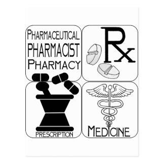 Pharmacy Pharmacist LOGO Postcard