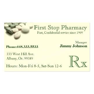 Pharmacy Pharmacist Medication Business Card