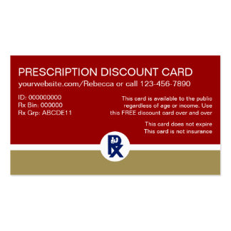 Pharmacy Prescription Business Cards