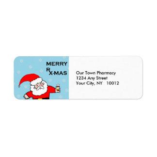 pharmacy return address labels