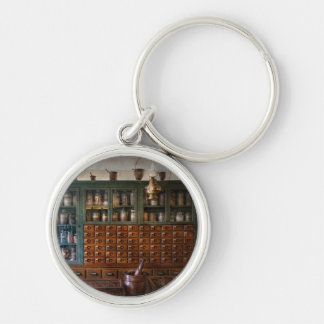 Pharmacy - Right behind the counter Silver-Colored Round Keychain
