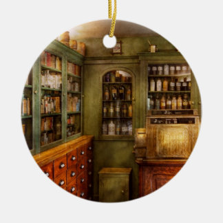 Pharmacy - Room - The dispensary Double-Sided Ceramic Round Christmas Ornament
