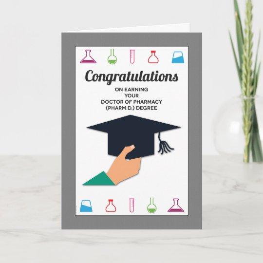 pharmacy school graduation congratulations card zazzle com