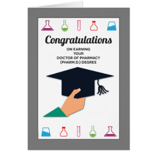 Pharmacy School Graduation Congratulations Card