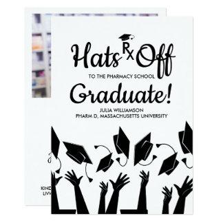 Pharmacy School Rx Grad Photo Graduation Party Card