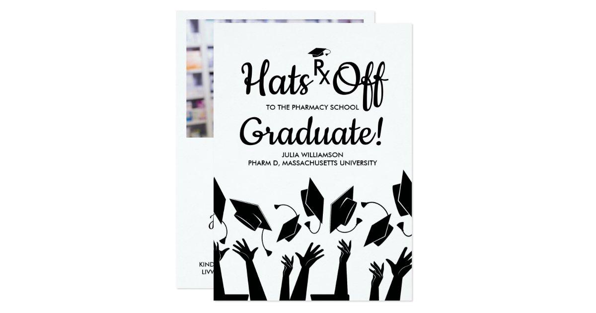 Pharmacy School Rx Grad Photo Graduation Party Invitation