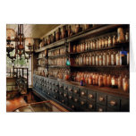 Pharmacy - So many drawers and bottles Greeting Card