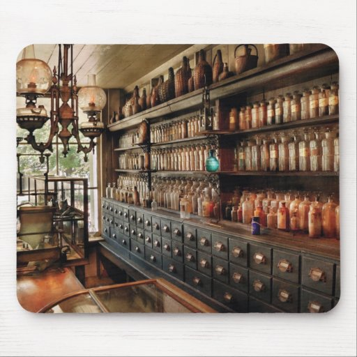Pharmacy - So many drawers and bottles Mouse Pad