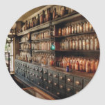 Pharmacy - So many drawers and bottles Classic Round Sticker
