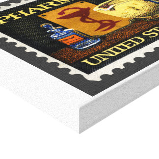 Pharmacy Stamp With Bowl Of Hygeia Canvas Print