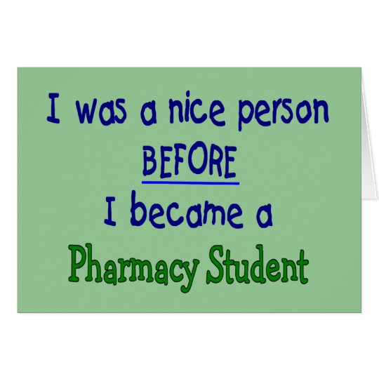 Pharmacy Student Funny T-Shirts & Gifts Card