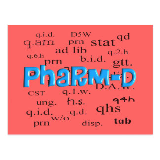 Pharmacy Student Pharm-D Gifts Postcard