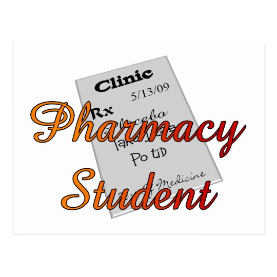 Pharmacy student Unique Gifts Postcard