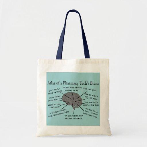"Pharmacy Tech ""Atlas of Pharmacy Tech Brain"" Canvas Bag"