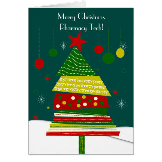Pharmacy Tech Christmas Cards #6 Tree Design