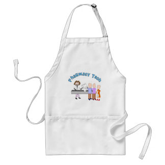 Pharmacy Tech Gifts Stick People Design Aprons