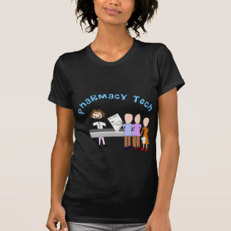 Pharmacy Tech Gifts Stick People Design T Shirts