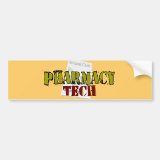 Pharmacy Tech Gifts With Prescription Design Bumper Sticker