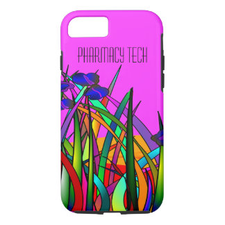 Pharmacy Tech iPhone 7 case Whimsical Flowers 2