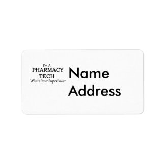 PHARMACY TECH LABEL