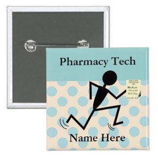 Pharmacy Tech Name Pins Badges