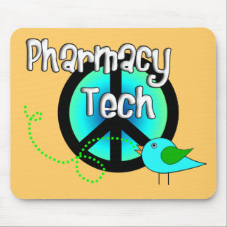 Pharmacy Tech Peace Sign Design Gifts Mouse Pad