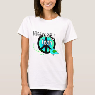 Pharmacy Tech Peace Sign Design Gifts T-Shirt