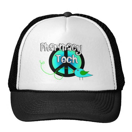 Pharmacy Tech Peace Sign Design Gifts Trucker Hat
