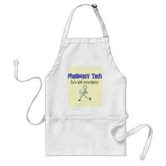 "Pharmacy Tech ""Runs With Prescriptions"" T-Shirts Apron"