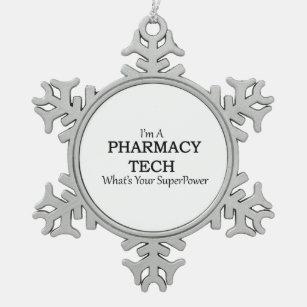 pharmacy tech snowflake pewter christmas ornament - Pharmacy Christmas Ornaments